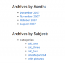 WordPress Default Archives